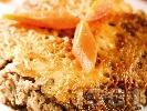 Рецепта Постна веган мусака без заливка и без пържене със соева кайма (гранули), гъби, картофи и сирене тофу